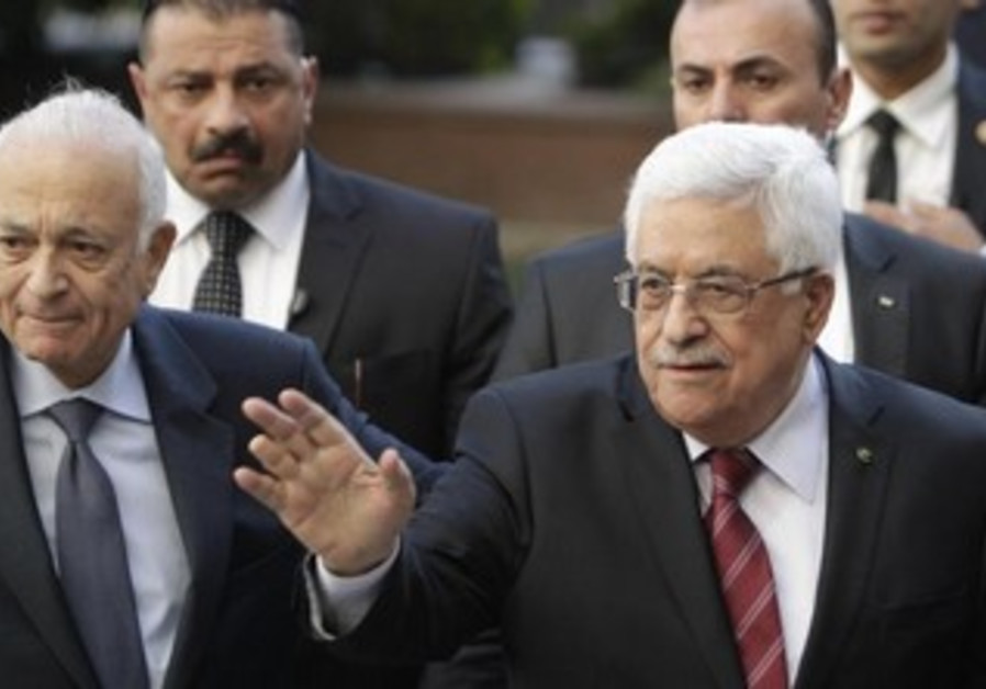 PA President Abbas and Arab League chief Nabil Elaraby