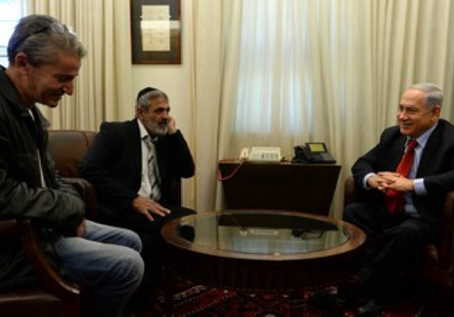 PM Netanyahu meets with Michael Yuger and David Pappo.