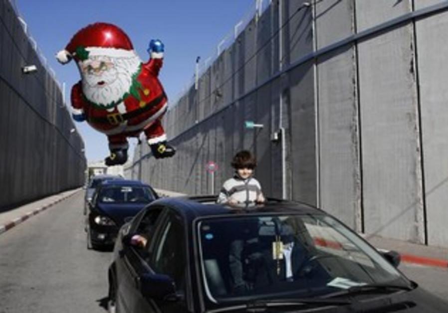 The Latin Patriarch of Jerusalem's convoy heads to Bethlehem