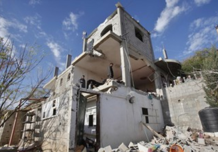 Gazan house damaged in IAF strike