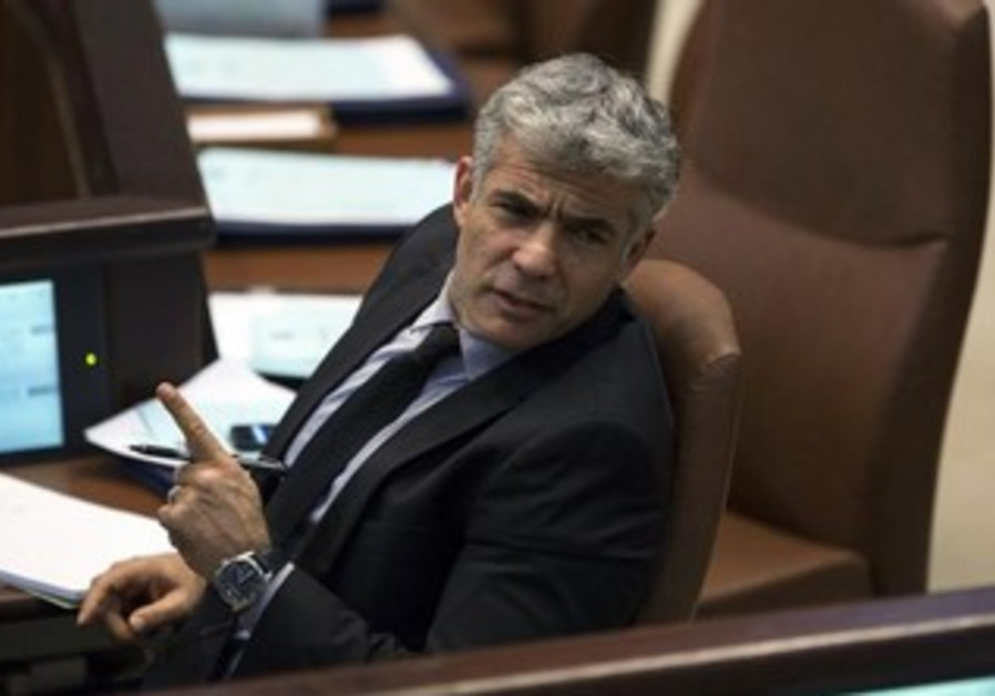 Finanace Minister Yair Lapid