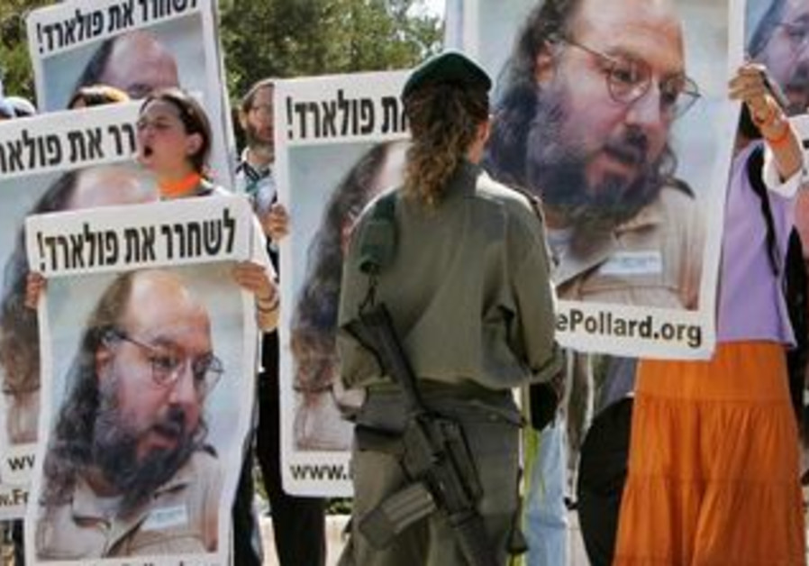 Israeli protesters demand Pollard's release in 2005.