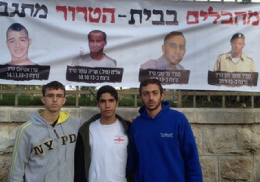 Israelis protesting the release of Palestinian terrorists