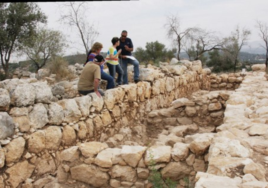 A view of what is left of King David's palace.