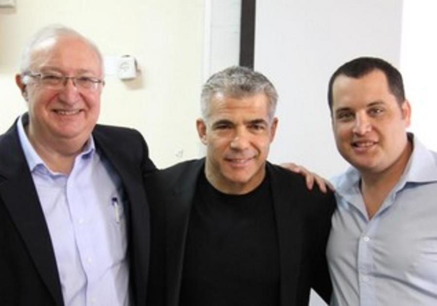 Professor Michael Trajtenberg, Yair Lapid and Ori Reshtick