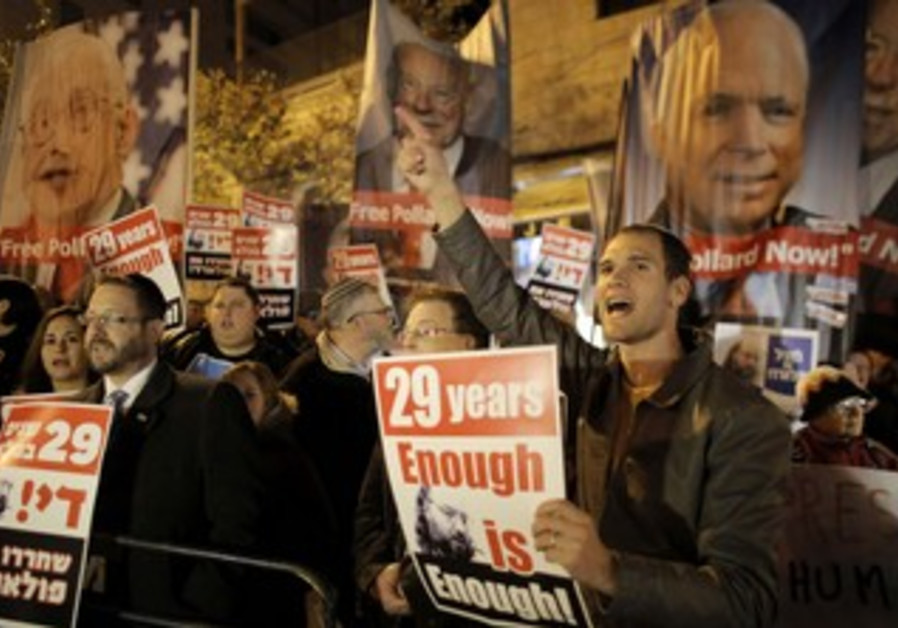 Protesters call for Jonathan Pollard's release, January 2, 2014..