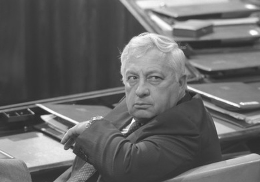 Ariel Sharon at the Knesset