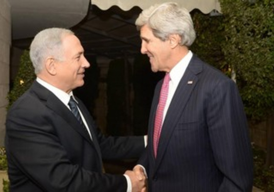 US Secretary of State John Kerry meets with Prime Minister Binyamin Netanyahu, January 4, 2014.
