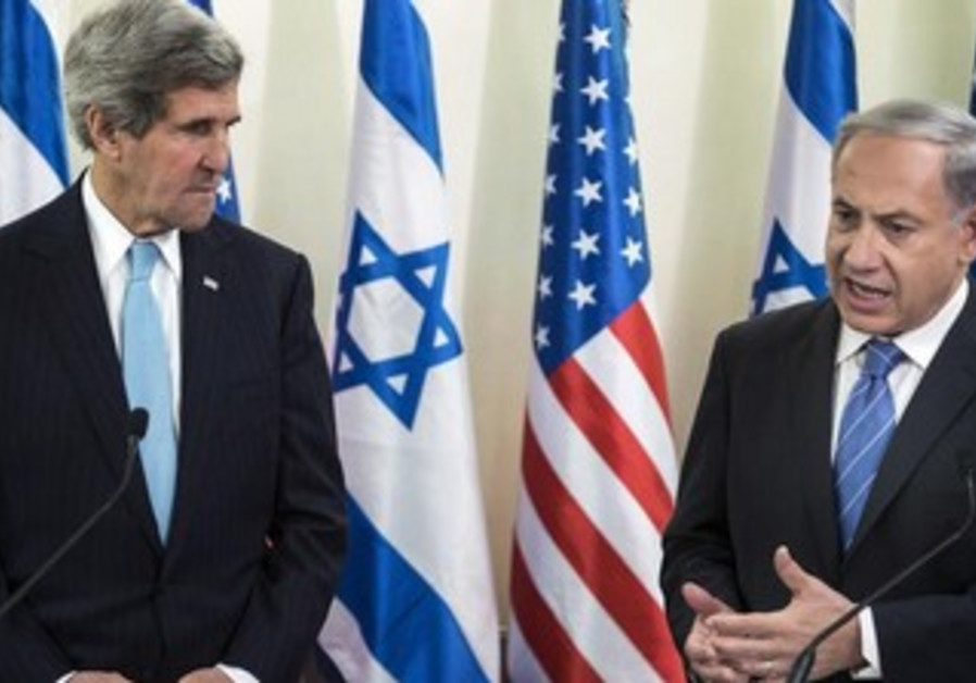 US Secretary of State John Kerry and PM Binyamin Netanyahu
