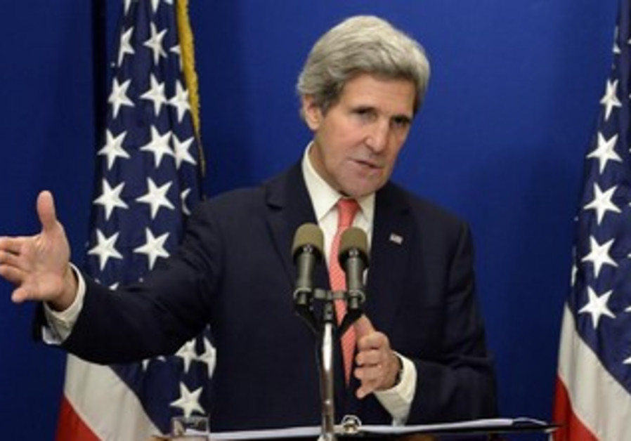 US Secretary of State John Kerry addresses the press before leaving Israel, January 5, 2014.