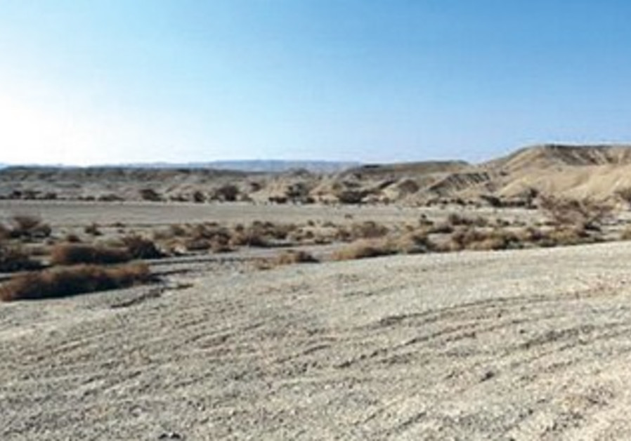 The Negev desert may soon be traversed by a rail line to Eilat