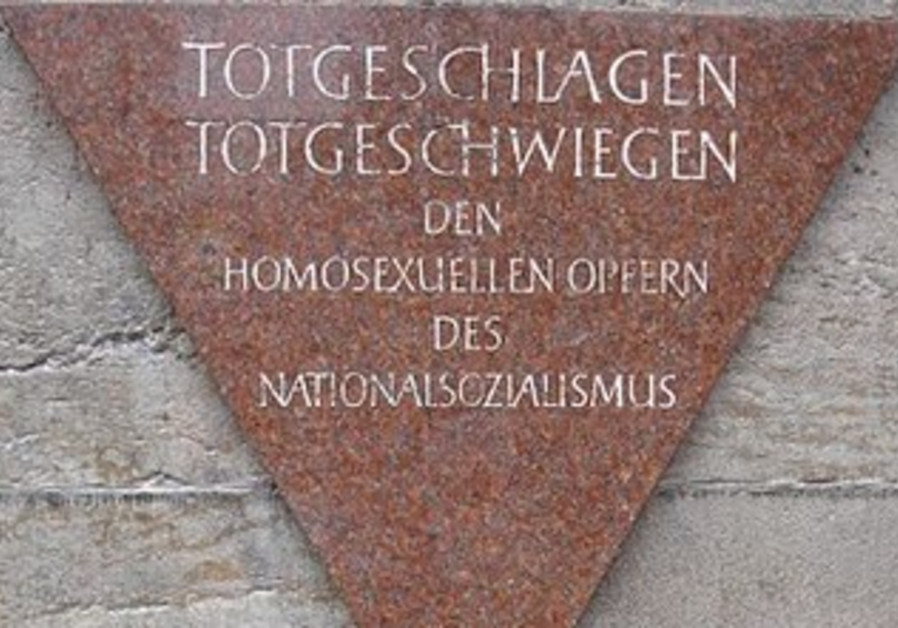 Memorial to gay Holocaust victims in Berlin.