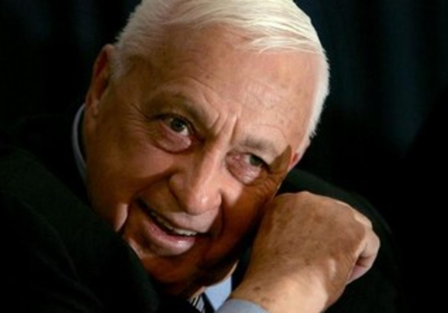 Former Israel prime minister Ariel Sharon speaks to the media