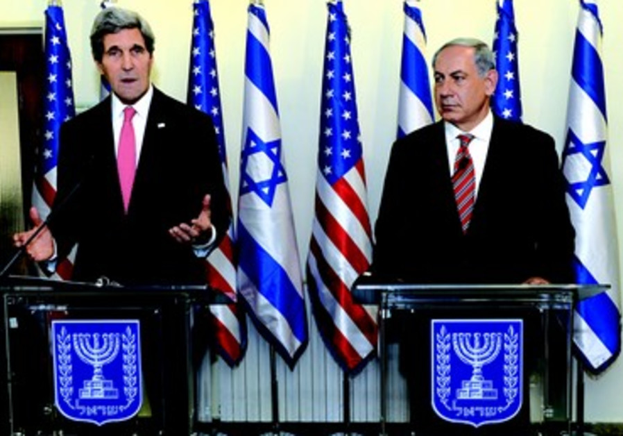 John Kerry et Benyamin Netanyahou