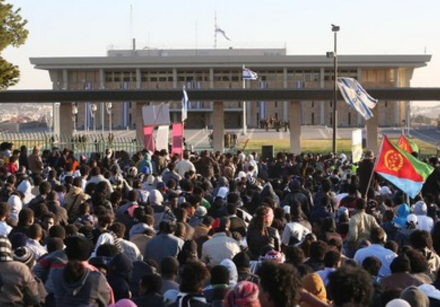 Migrant protest