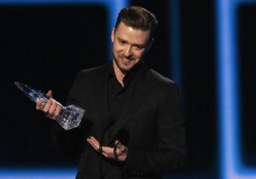 Pop music superstar Justin Timberlake
