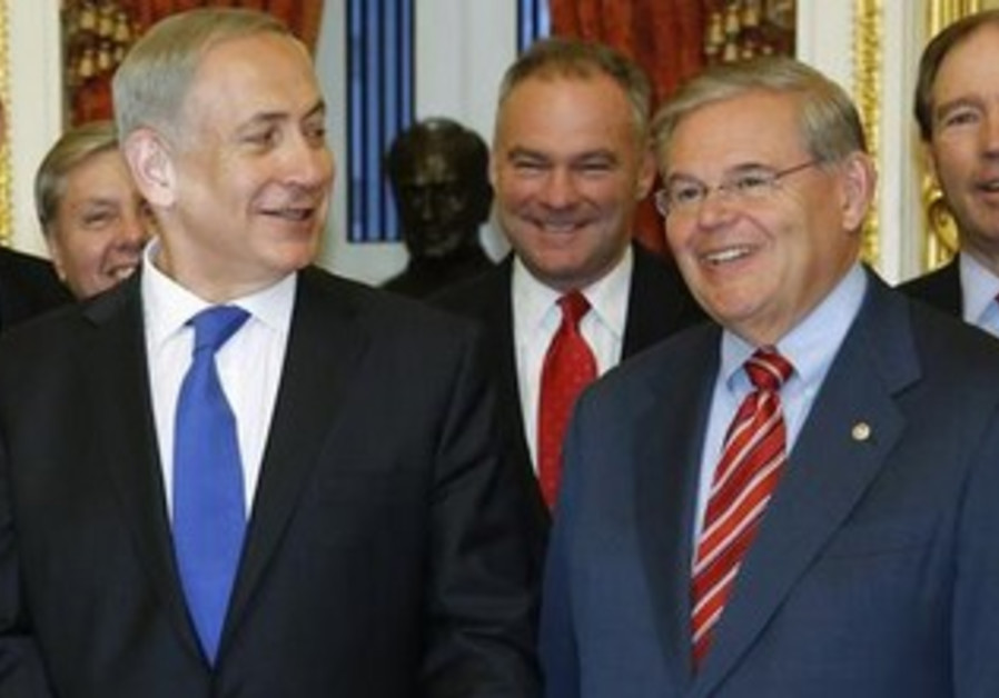 Prime Minister Netanyahu meeting with Senate Foreign Relations Committee Chairman Robert Menendez.