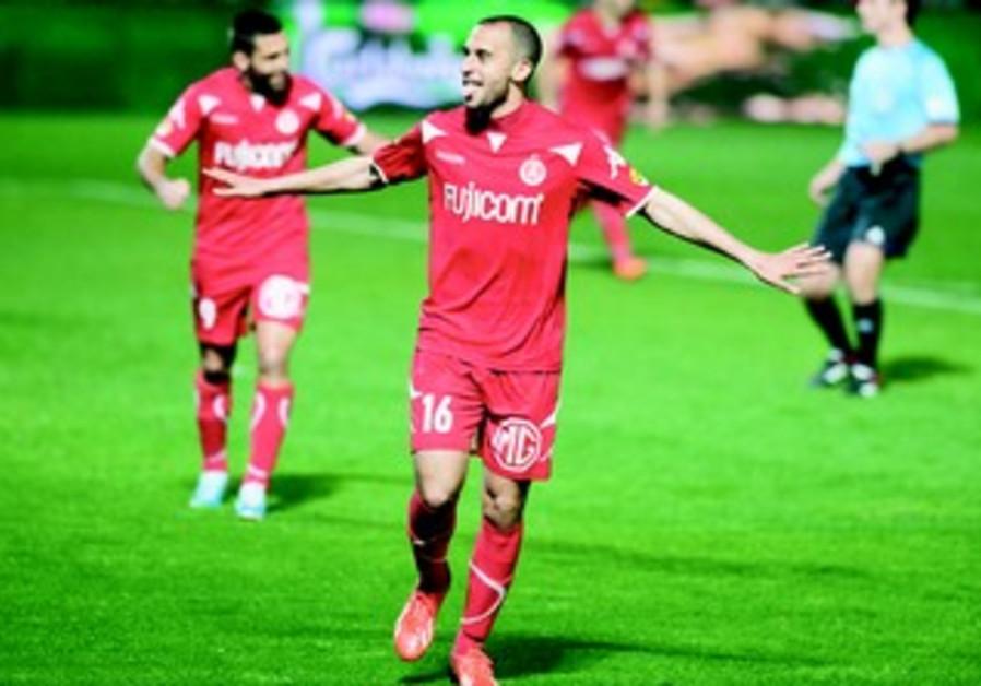 Hapoel Tel Aviv's Omer Damari celebrates after scoring