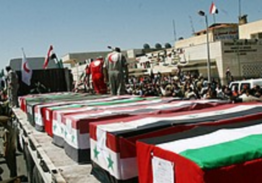 114 terrorists' bodies arrive in Syria for burial