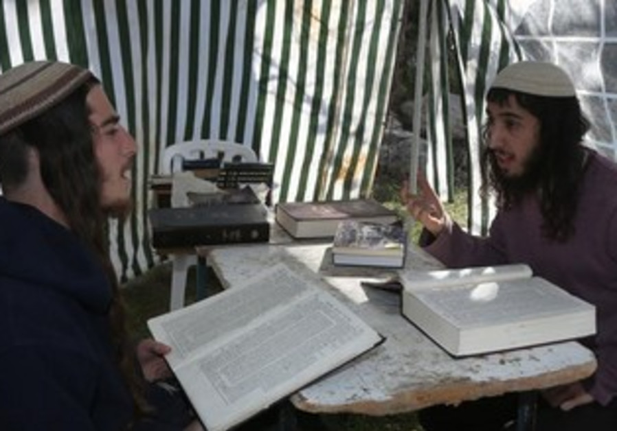 Studying Torah in Homesh, January 14, 2014