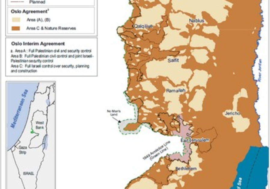 map west bank