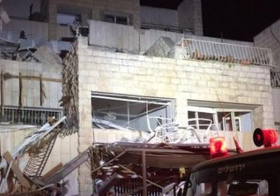Jerusalem gas explosion, January 20, 2014.