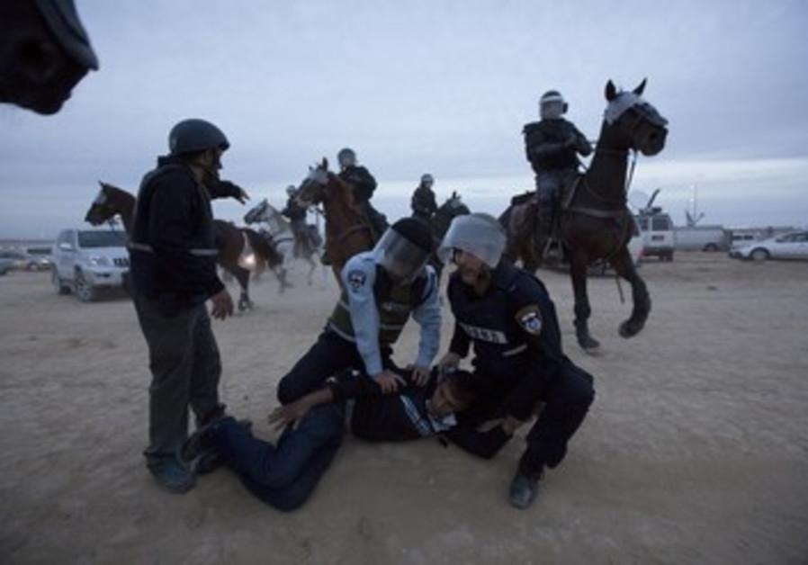 Violente manifestation de bédouins