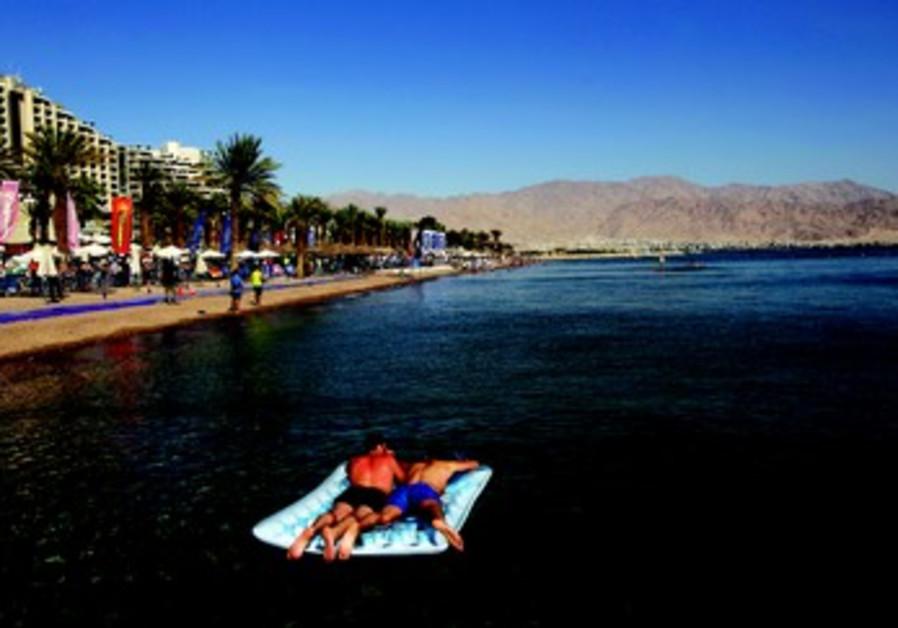 Touriste dans la région d'Eilat