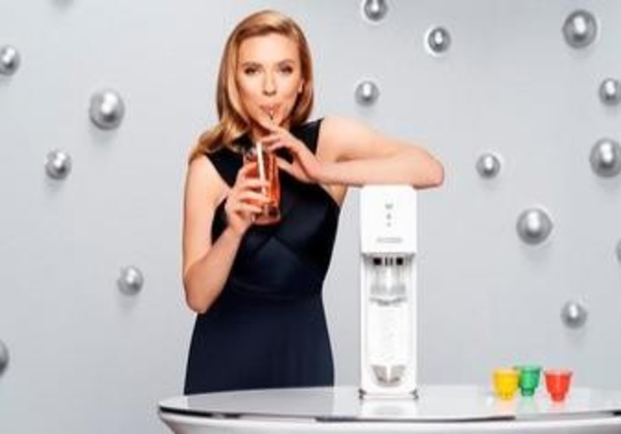 Scarlett Johansson as pitchwoman for SodaStream.