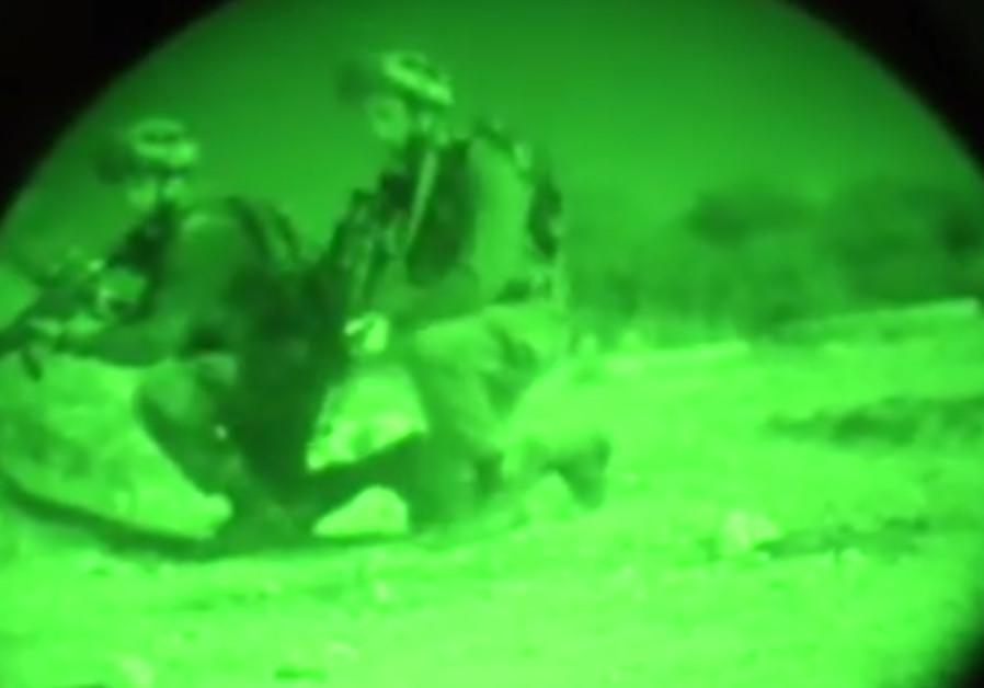 IDF troops simulate a raid against Hezbollah