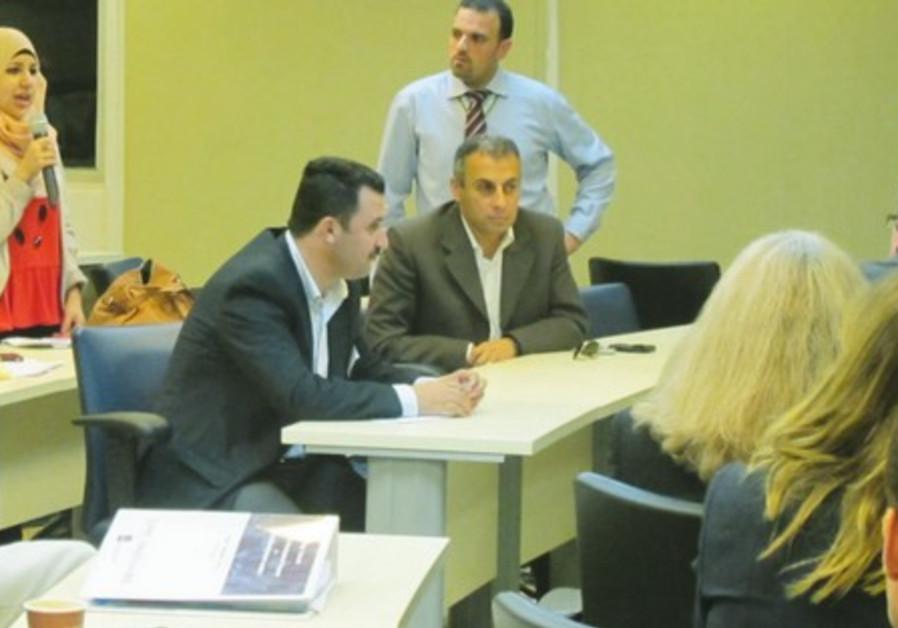 Palestinian entrepeneurs at TAU