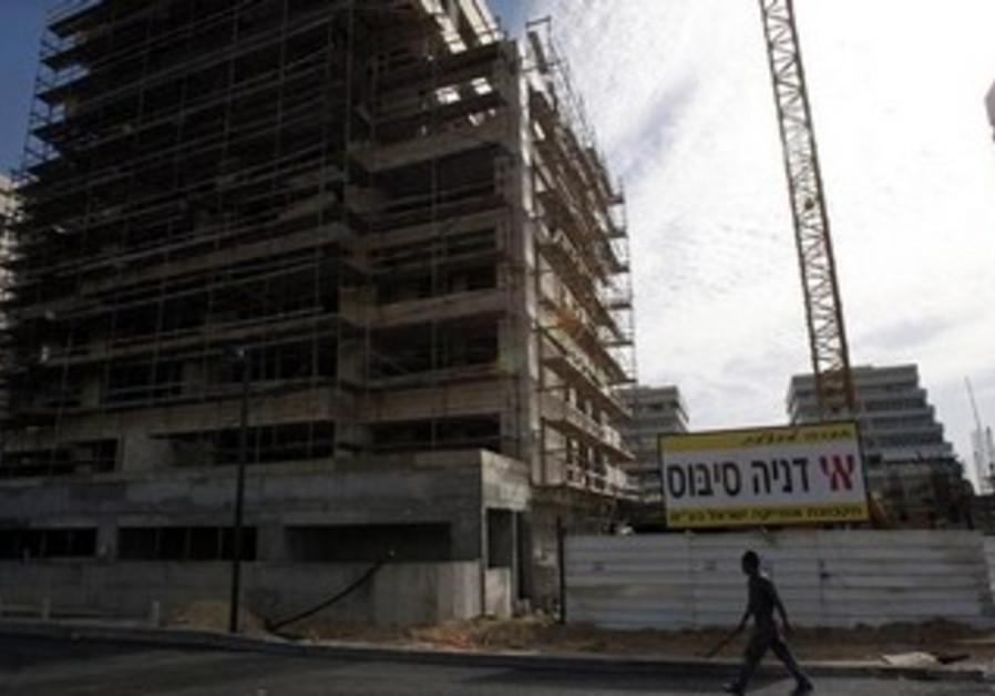 Africa Israel construction site in Tel Aviv.