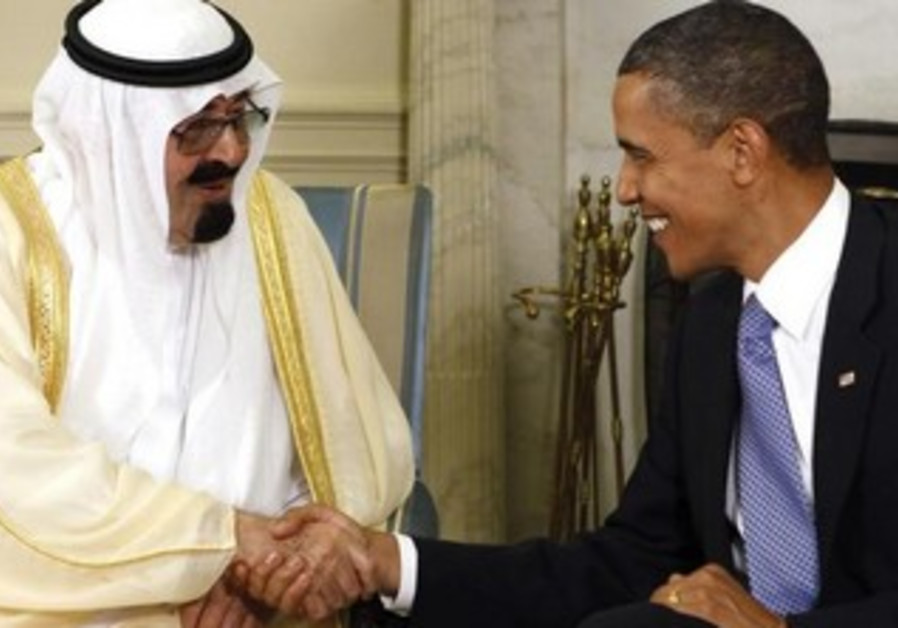 US President Barack Obama and Saudi King Abdullah in the White House in 2010