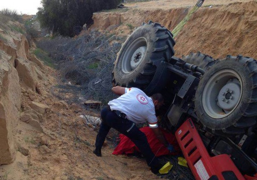 Tractor accident, February 7, 2014