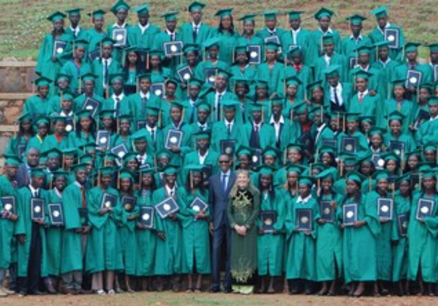 A graduation photo from the class of the Agahozo-Shalom Youth Village.