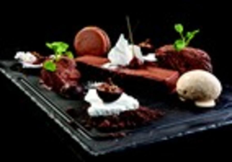 Dessert Sarkozy, tout en chocolat