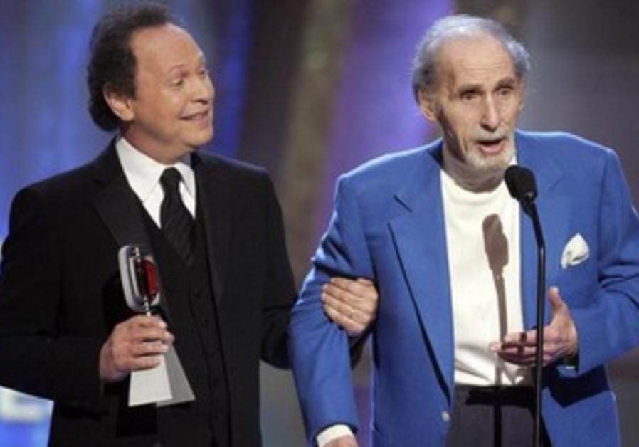 Comedians Sid Caesar (R) and Billy Crystal