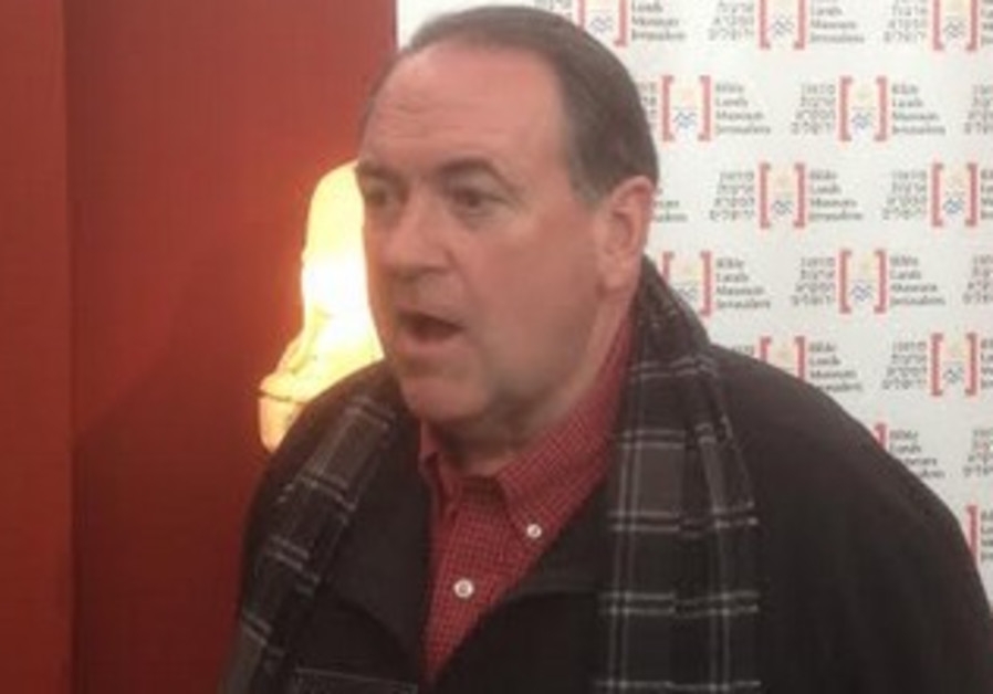 Presumptive Republican presidential candidate Mike Huckabee in Jerusalem