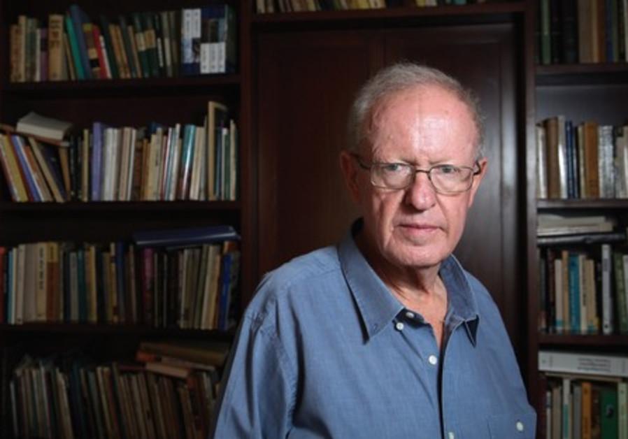 Prof. Dan Laor, author of 'Alterman: A Biography,' at his home in Jerusalem
