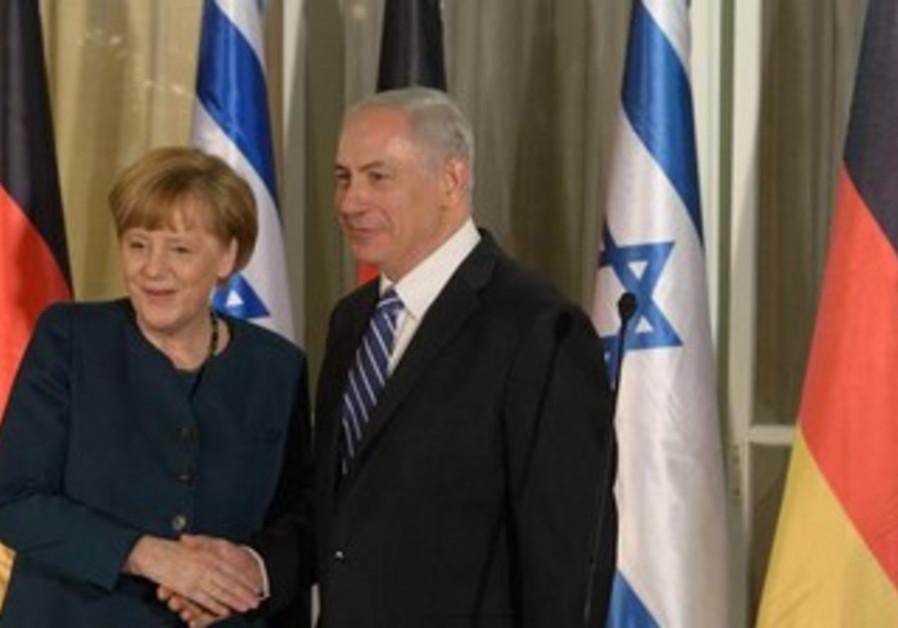 Netanyahu and Merkel