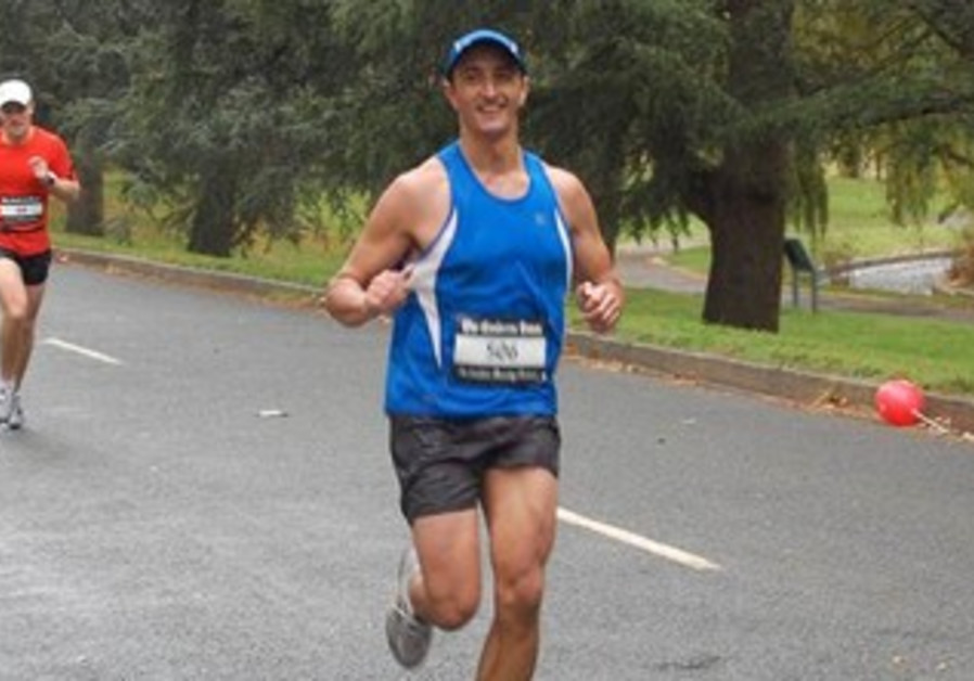 Australian Ambassador Dave Sharma runs Canberra Marathon in 2012.