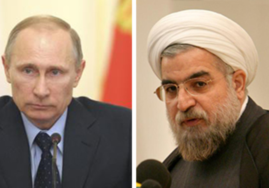 Putin and Rouhani at Bushehr