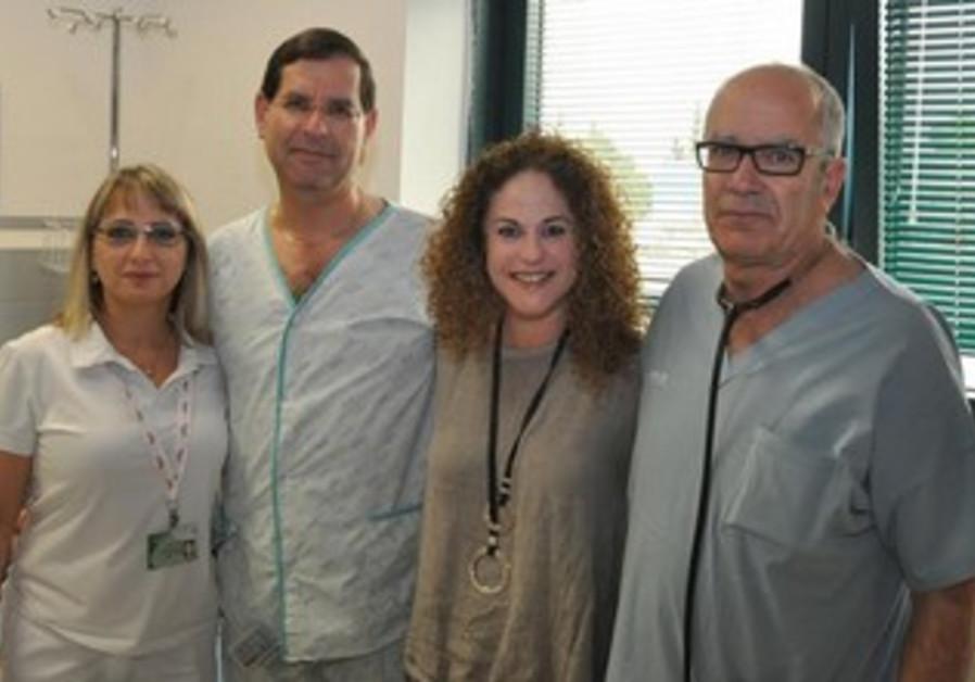 Zuckerman couple with Dr. Turgeman and nurse Ina Schneider.