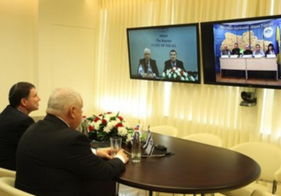 Knesset speaker video-chat with Ukranian Jewish community leaders