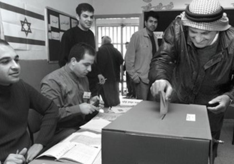 Arabs voting