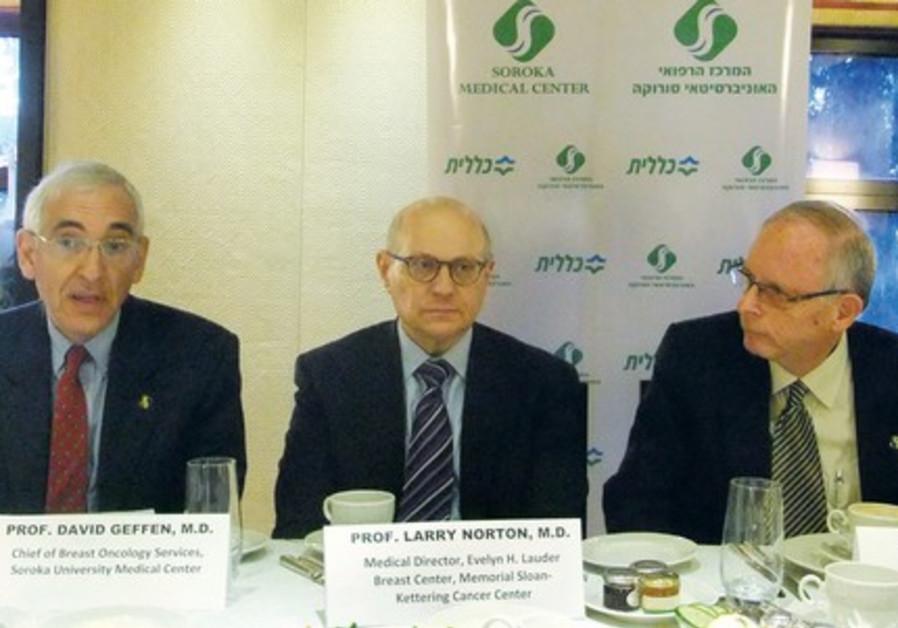 Israeli MKs visit PROF. DAVID GEFFEN, Prof. Larry Norton and Dr. Ehud DavidsonHillel.