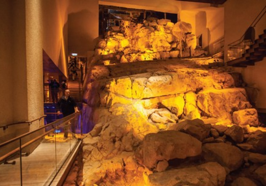 City of David archaeological exhibit