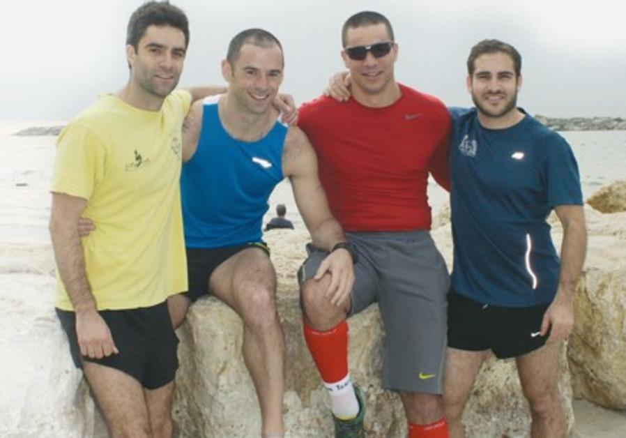 RUNNERS RAISING money for Beit Halohem