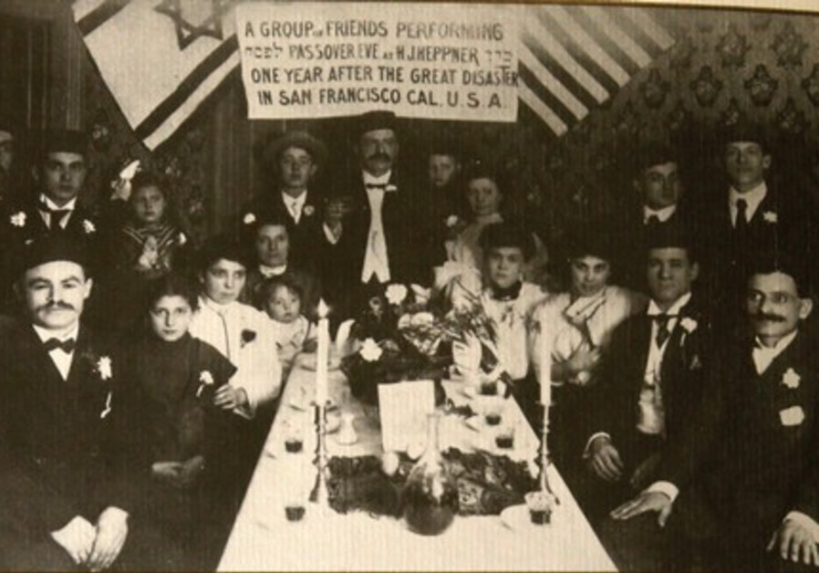 famous picture from 1907 used in the 'American Heritage Haggada,' the Heppner family of San Francisc