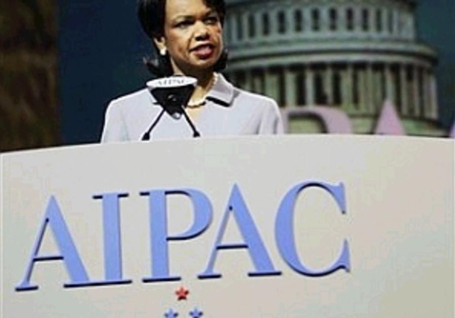 rice speaking to aipac 298 88 ap
